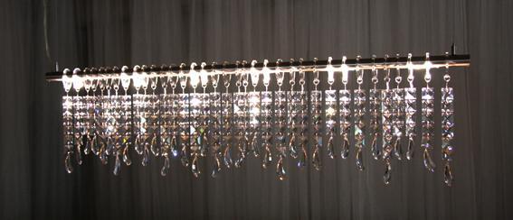 Keinu Reilu - LED lustr se skleněnými krystaly